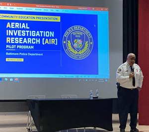 Baltimore Police Commissioner Michael Harrison held community forums last month to gather input from residents about their thoughts on a surveillance plane that will soar over the city and, supporters say, help catch criminals. (Photo/TNS)