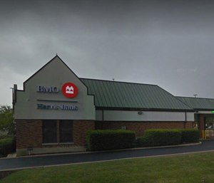 Two Aurora firefighters are being credited with helping to detain a man who is accused of robbing a BMO Harris bank in Aurora. (Photo/Google Street View)