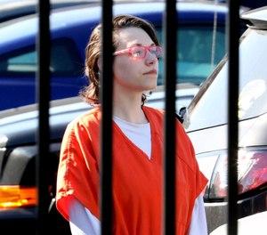 Elizabeth Lecron leaves U.S. District Court Thursday, Aug. 29, 2019 in Toledo, Ohio. (Amy E. Voigt/The Blade via AP)