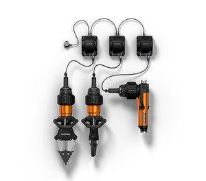 With Holmatro's On-Tool Charging system you can charge the battery while it remains on the tool.