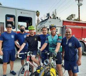 Riders prepare to start their trip Aug. 1 in order to arrive in New York City to commemorate the 20th anniversary of the Sept. 11 terrorist attacks.