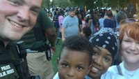 Black Lives Matter protest turns into barbecue with police
