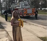 Mich. FFs deliver birthday wishes to homes amid COVID-19 lockdown