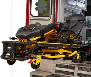 Using a powered cot, like Stryker's Power-PRO XT, can help significantly reduce spinal loading and exertion during patient transport, reducing the likelihood of provider injury.