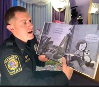 The rising heroes of the coronavirus era? These officers are reading books to children stuck at home