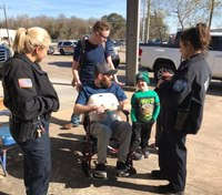 First responders gather to host benefit for injured Texas paramedic