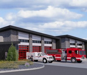 Benton County Fire District 4 in West Richland, Washington, passed a bond for 28 cents per $1,000 of assessed property value to build this new station and purchase apparatus. The fire district broke ground on the new facility on Nov. 18, 2019. (Photo/Benton County Fire District)
