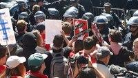 Video: Black-clad anarchists storm Berkeley rally, assaulting 5