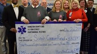 Tenn. county EMS donates $5.8K from pink shirt campaign to cancer center