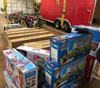 First responders unite with community to deliver bikes this Christmas