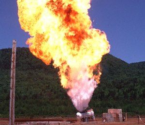 A BLEVE is a boiling liquid expanding vapor explosion, which occurs when pressurized liquid inside of a vessel, such as a propane tank, reaches temperatures higher than that liquid's boiling point.