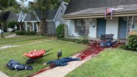 Man's gory Halloween display prompts multiple police calls