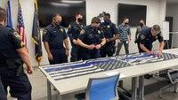 Hundreds of LEOs sign flags for LA deputies shot in ambush