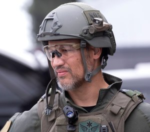 Dr. Joshua Bobko taking part in a training exercise with West (Orange) County SWAT in Fountain Valley on Wednesday, Oct. 16, 2019.