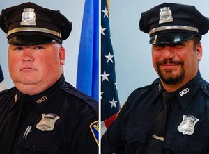 Officer Richard Cintolo, left, and Officer Matthew Morris  (Photo/Boston Police Department)