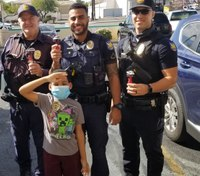 Ariz. boy gives officers candy, toy police cars to show appreciation