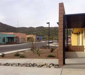 This undated photo provided by the Office of the Inspector General, Department of Homeland Security shows houses used by Border Patrol agents who live in Ajo, Ariz. (AP Image)