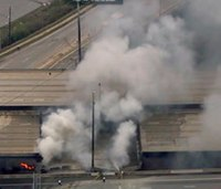 Fire causes interstate overpass to collapse in Atlanta