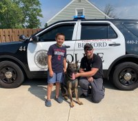 10-year-old raises money for K-9 agility course, vests for police K-9s
