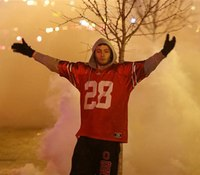 Video: Arrests made as Ohio State fans set fires, tear down goal post