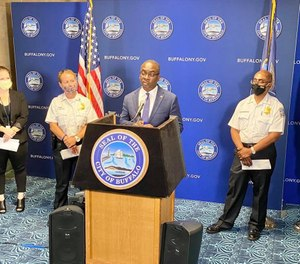 Buffalo Mayor Byron W. Brown speaks at a press conference. (Photo/Byron W. Brown)