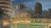 Video captures moment Miami-area condo tower collapses