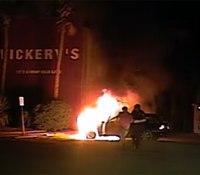 Video: SC cop rescues drunk man as fire engulfs car