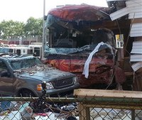 Casino bus crashes into NYC building, injures 6