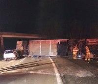 35 injured after Virginia bus overturns
