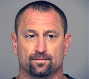 This undated booking photo provided by the Ventura County Sheriff shows Andrew David Jensen, 42, of Ventura, Calif., who was arrested on July 28, 2017 on suspicion of committing a burglary.