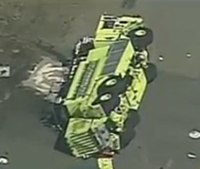 Calif. firefighter critically hurt in airport truck rollover