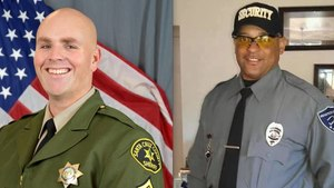 Steven Carrillo has been charged with the deadly ambushes of Sgt. Damon Gutzwiller, left, and Federal Protective Services Officer Patrick David Underwood. (Photo/SCSO/Placer County Deputy Sheriffs' Association)