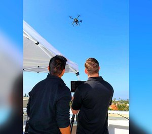 The Chula Vista Police Department is using drones to enforce the statewide coronavirus lockdown. (Photo/CVPD)