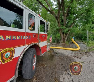 An early morning call sent 12 Cambridge firefighters to the hospital with chemical burns.