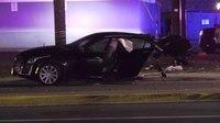 Houston Police: Crash splits bystander's car in half during pursuit