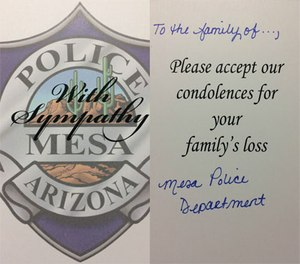 Compassion is one of the key tenets of police work that should never get lost among crime stats. (Photo/Mesa PD)