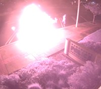 Video: Calif. man torches police SUV in front of station