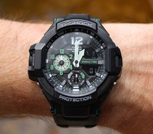 This watch is a beautiful blend of liquid crystal display (LCD) and analog watch hands. (PoliceOne Image)