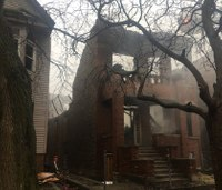 Chicago firefighter hurt after wall collapses in extra-alarm fire