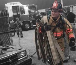 Dover Twp Volunteer Fire Department firefighter Chase Hartlaub was killed in a vehicle crash in June. (Photo/DTFD)