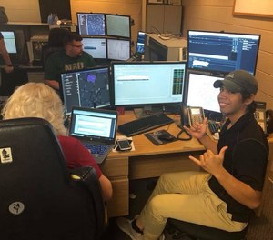 Dispatchers train at the Cherokee County 911 center in a 2018 file photo.