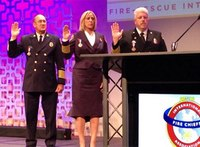Fire Chief Keith Bryant sworn in as IAFC president, chairman