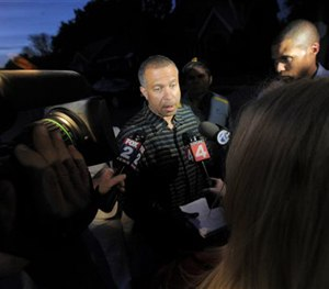 Detroit Police Chief James Craig speaks with reporters following a police chase on Wednesday, June 24, 2015.