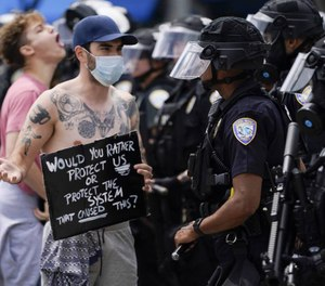 Police reform advocates are calling for change across a spectrum of issues. (AP Photo/Ashley Landis, File)