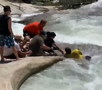 Video: Off-duty Calif. patrol officer rescues hiker trapped in whirlpool
