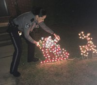 Md. officer lifts holiday spirits by replacing Christmas decorations destroyed by vandals