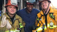 'Houseless' LA man gives helping hand to Skid Row fire station