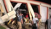 Kan. fire station, 2 apparatus destroyed when truck crashes into building