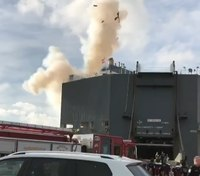 Video: New footage of cargo ship blast that injured 8 Fla. FFs