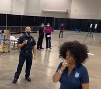 Patients will do their own nose swabs at Las Vegas test site